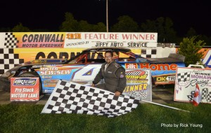 July 1, 2013 - Roch Aubin wins Pro Stock Series feature at Cornwall Speedway